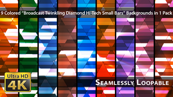 VideoHive Broadcast Twinkling Diamond Hi-Tech Small Bars Pack 03 18414443