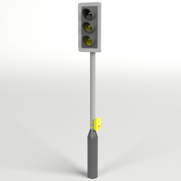 Traffic Lights with pedestrian crossing button - 3DOcean Item for Sale