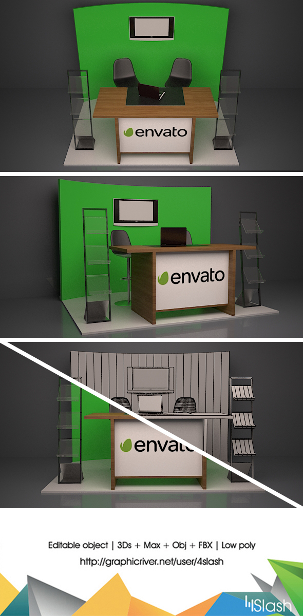 3d Exhibition Stall - 3DOcean Item for Sale