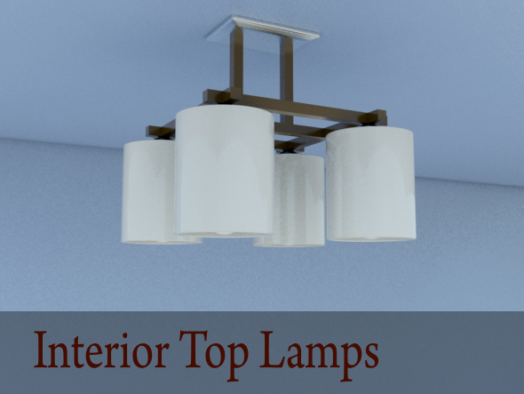3DOcean Interior Top Lamps 18418477