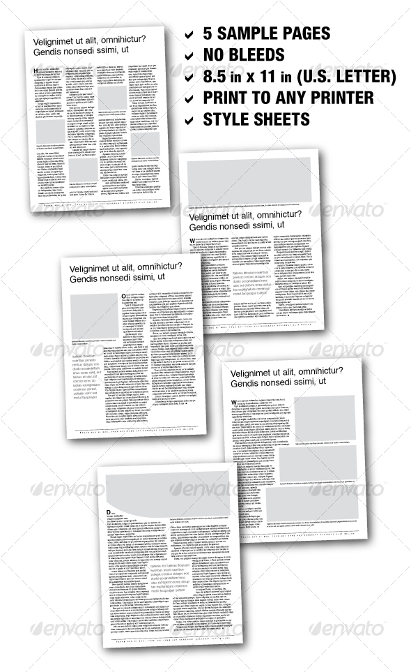 GraphicRiver U.S Letter Editorial Samplers 01 5 pages 70845
