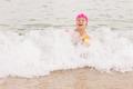 Little Girl Swimming Summer