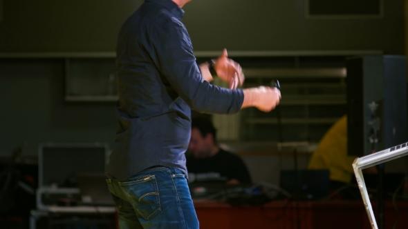 VideoHive Speaker Gesturing Towards The Audience 18421535