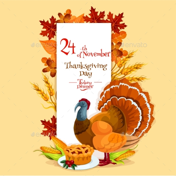 Thanksgiving Day Invitation Card Template