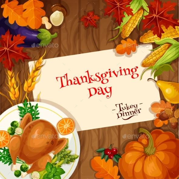Thanksgiving Turkey Dinner Invitation Card