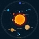 Solar System Vector Illustration. Outer Space