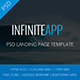 AppINFINITE - App Landing PSD Template