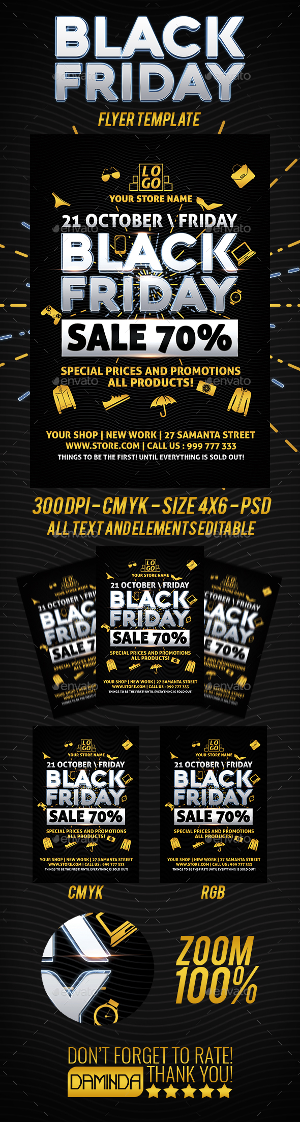 Black Friday Flyer Templete