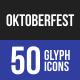 Oktoberfest Glyph Icons