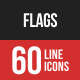Flags Filled Line Icons
