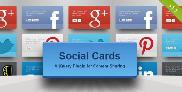 CodeCanyon Social Cards jQuery Plugin 1635084