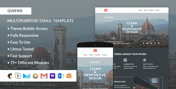 Download Queenie – Responsive Email + StampReady Builder nulled download