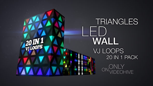 Download Triangles LED Wall VJ Loops Pack nulled download