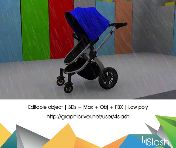 3D Pram Animation - 3DOcean Item for Sale
