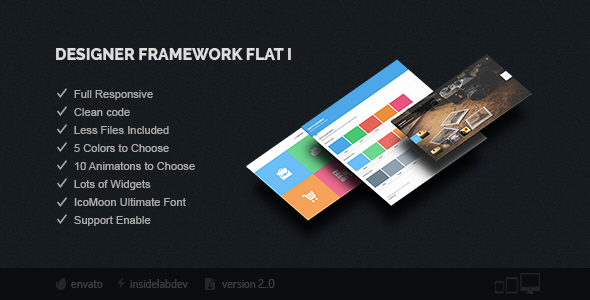 Designer Framework Flat I - CodeCanyon Item for Sale
