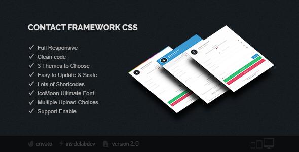 Contact Framework CSS - CodeCanyon Item for Sale