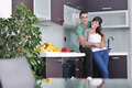 young couple have fun in modern kitchen - PhotoDune Item for Sale