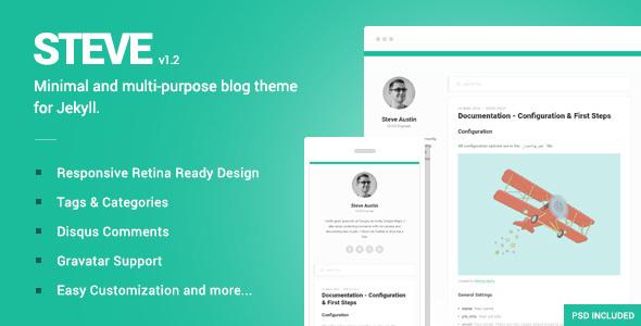 Steve - A minimal blog theme for Jekyll