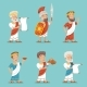 Greek Roman Retro Vintage Character Icon Set