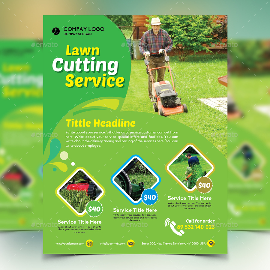 lawn maintenance brochures photo album happy easter day gardener mowing lawn mower flyer by design station graphicriver gardener mowing lawn mower flyer by design station graphicriver