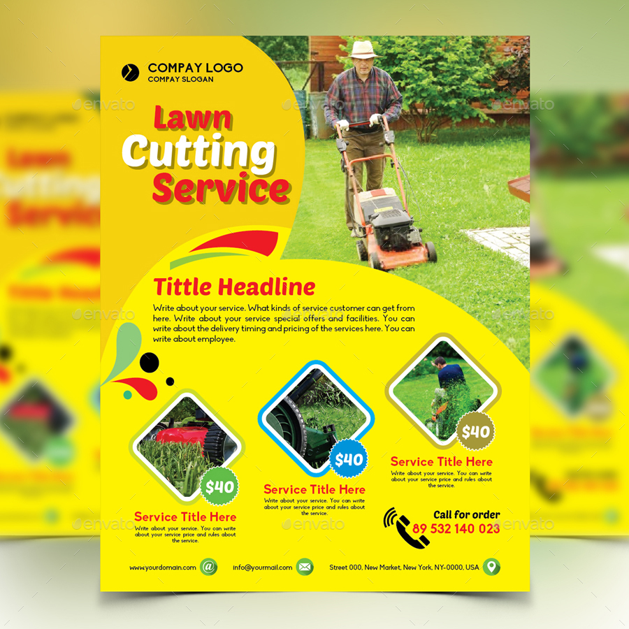gardener mowing lawn mower flyer by design station graphicriver gardener mowing lawn mower flyer commerce flyers · preview image set 01 preview1 jpg preview image set 02 preview2 jpg