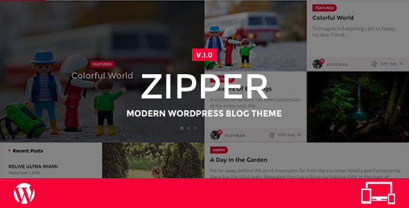 Zipper - Modern WordPress Blog Theme