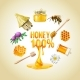 Set Of Vector Honey Icons.