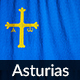 Ruffled Flag of Asturias