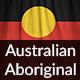 Ruffled Flag of Australian Aboriginal