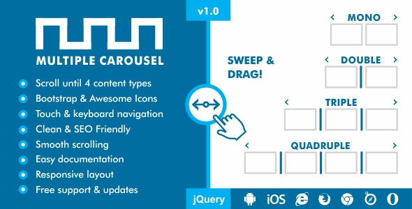 Multiple Carousel - Responsive Mixed Content Slider Plugin
