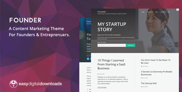 Founder - A Content Marketing WordPress Theme