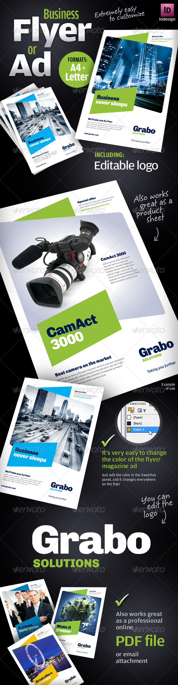GraphicRiver Business Flyer Ad Product sheet 1817655