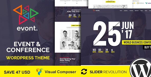 Download Evont - Event & Conference WordPress Theme nulled download