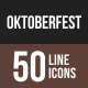 Oktoberfest Line Multicolor Icons