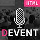 Devent - Event & Conference Site Template with Onepage & Multipage Feature