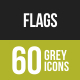 Flags Greyscale Icons
