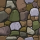 Cartoon Colors Stone Texture Seamless Background