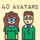 20 Avatars in 2 styles