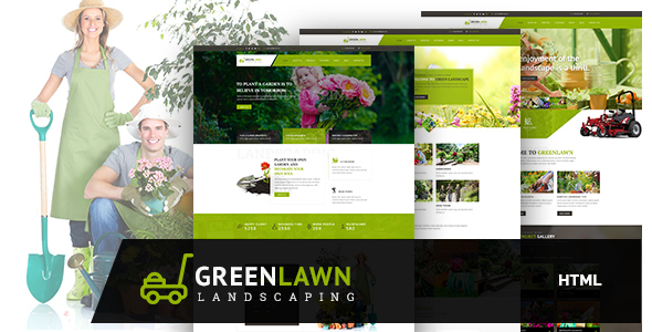 GREENLAWN- Gardening and Landscaping HTML Template