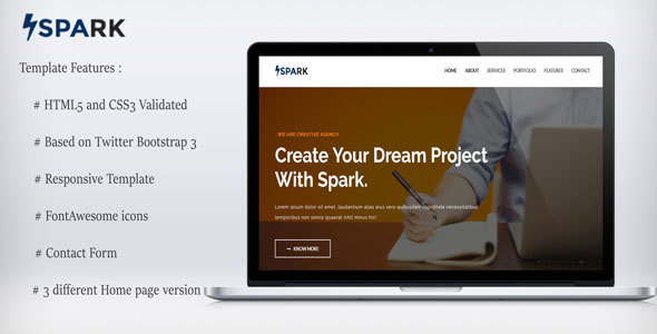 Themeforest Spark-Multipurpose Template 17973559