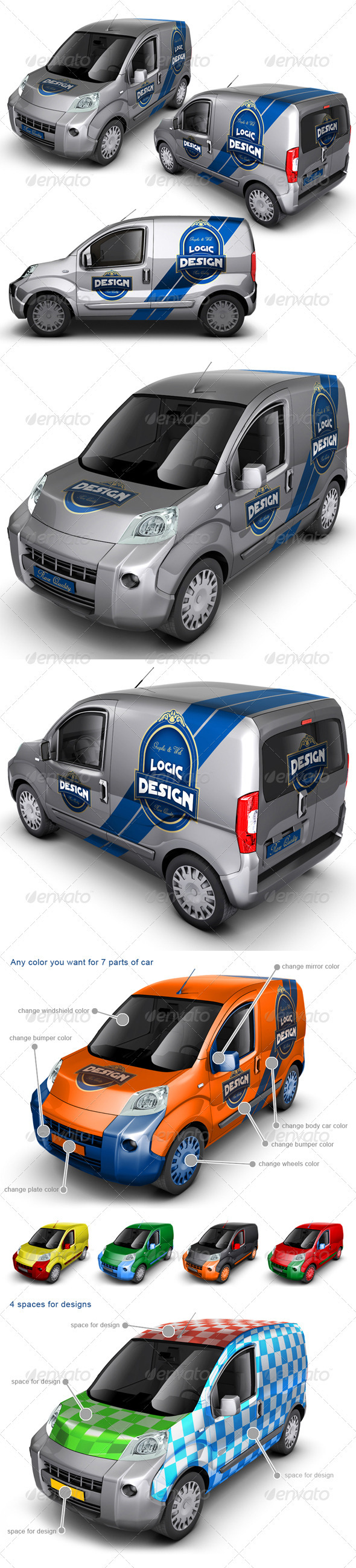 GraphicRiver Minivan Car Mock Up 1818134