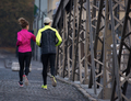 young  couple jogging