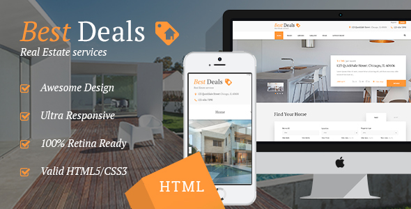 Best Deals | Property Sales & Rental Site Template