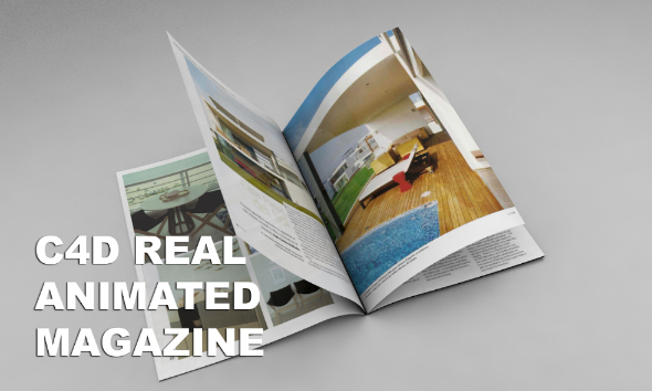 3DOcean C4d Real Magazine Animation NO VRAY NEEDED 18399452