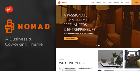 Nomad – Business & Coworking Space Theme (Business) Download