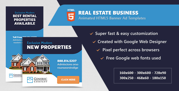 Download Real Estate Business Banner Ads - HTML5 Animated GWD nulled download