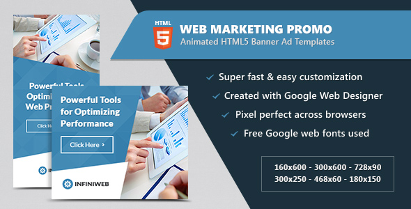 Download Animated HTML5 Web Marketing Promo Banners Ads nulled download