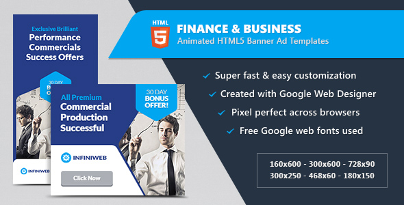 Download Finance & Business Banner Ads - HTML5 Animated GWD nulled download