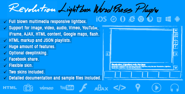 Revolution Lightbox WordPress Plugin (Galleries) Download
