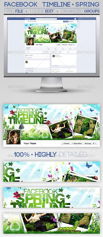 GraphicRiver Facebook Timeline Cover Spring 1738748